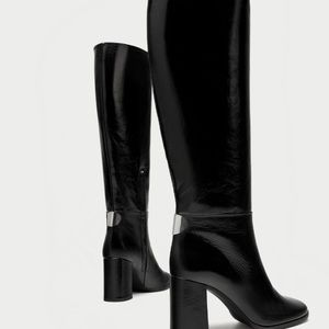 0abcd6114848 Zara Shoes - ZARA 100% LEATHER HIGH HEEL BOOTS BRAND NEW